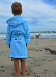 Blue Kids Beach/Bath Robe