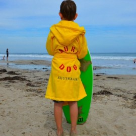 Yellow Kids Beach/Bath Robe